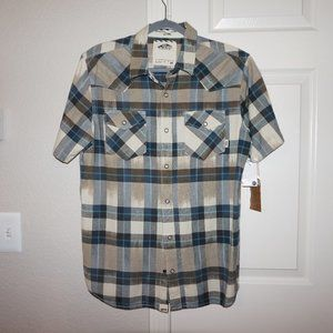 Vans short-sleeve plaid shirt - Medium